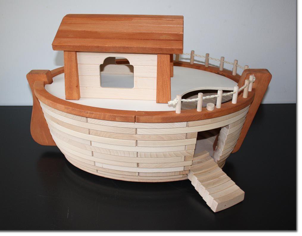 holztiger arche noah spielzeug figur holzschiff schiff holzspielzeug besch digt ebay. Black Bedroom Furniture Sets. Home Design Ideas