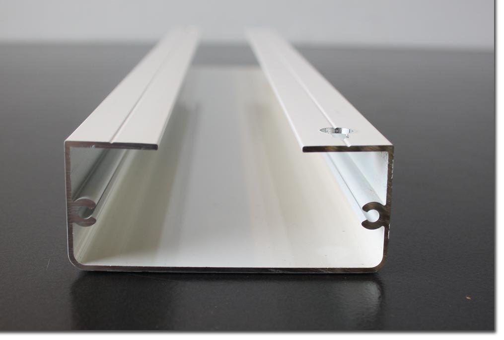 kabelkanal kabelabdeckung wei eckig 50 cm 8 8 x 3 7 cm leiste aluminium ebay. Black Bedroom Furniture Sets. Home Design Ideas