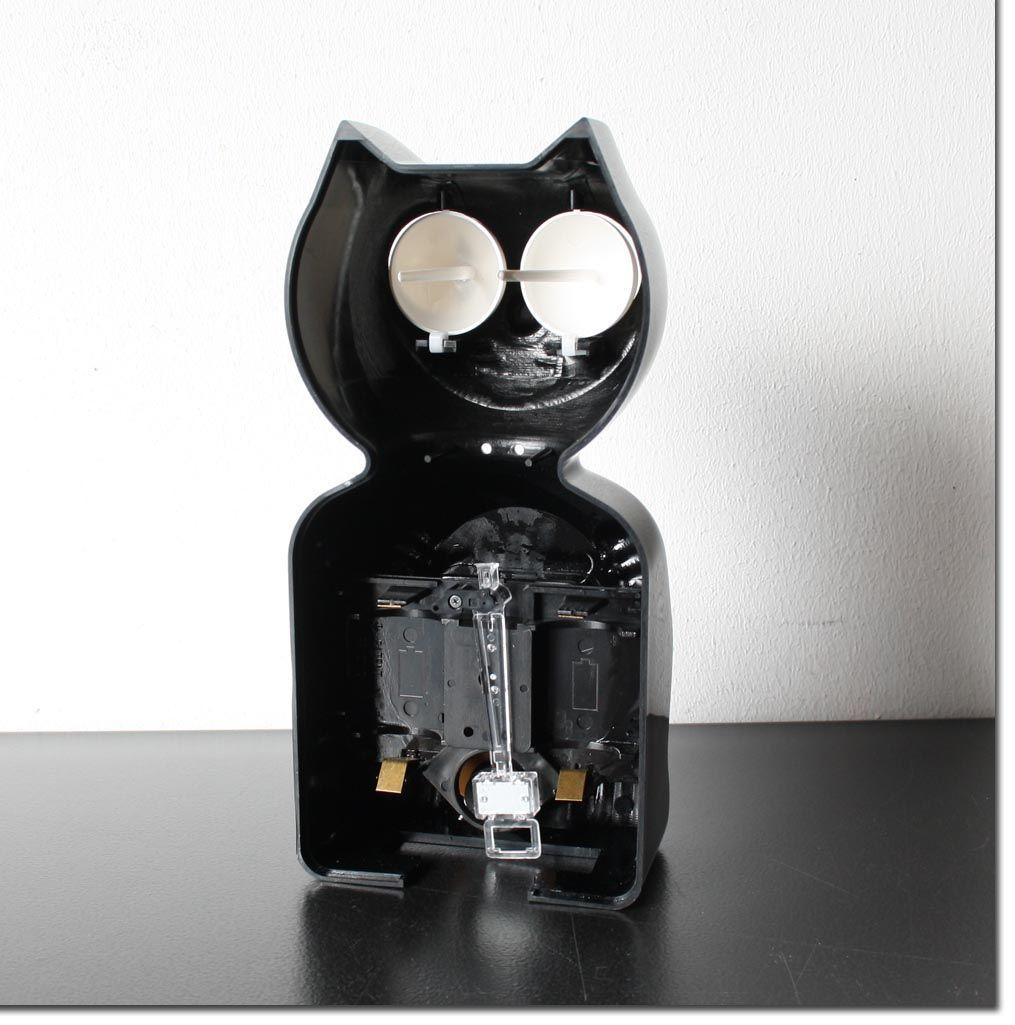 kit cat clock katzen pendeluhr fehler 38x10cm kit kat uhr wanduhr pendel ebay. Black Bedroom Furniture Sets. Home Design Ideas