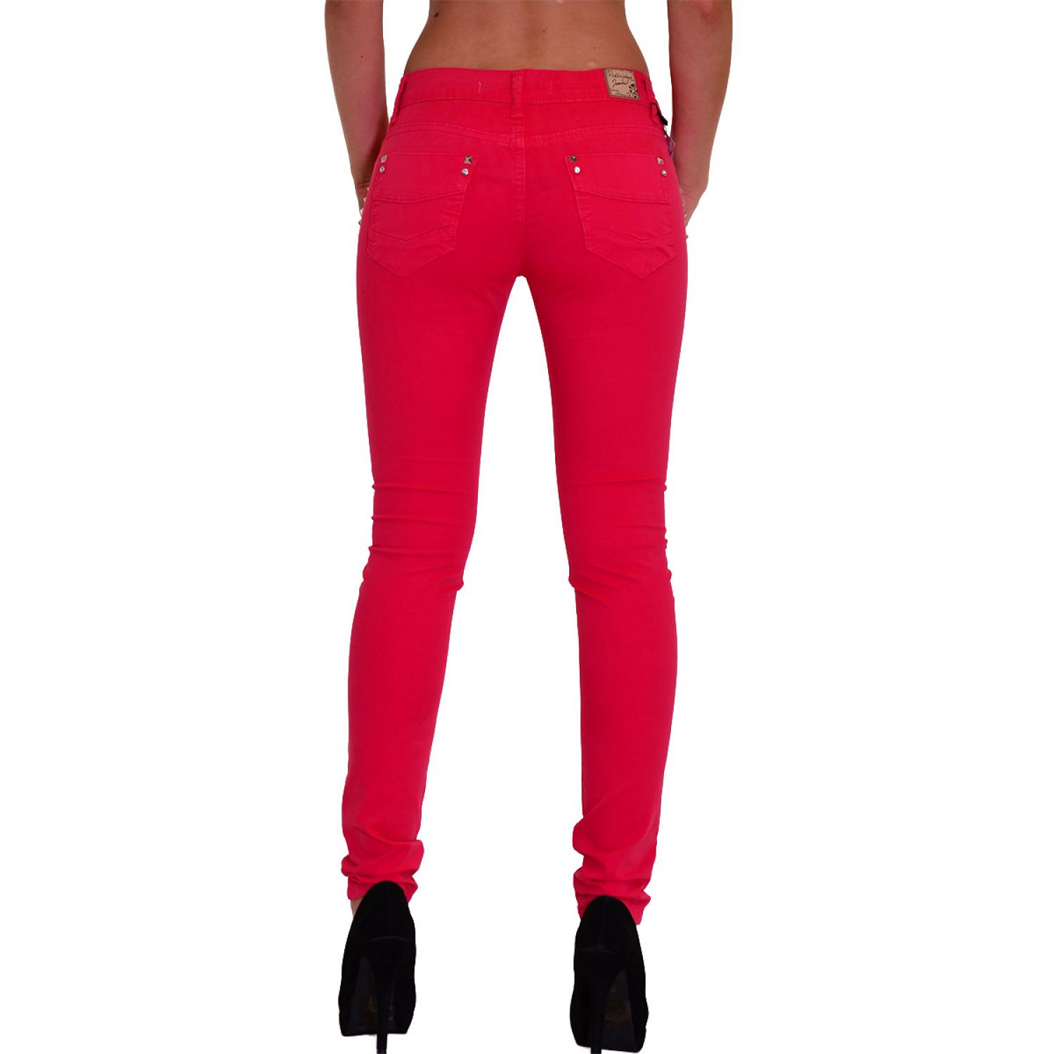 53c7fdece549 Redbridge Red Bridge Jeans Damen Chino Hose rot sexy Skinny Slim Fit ...