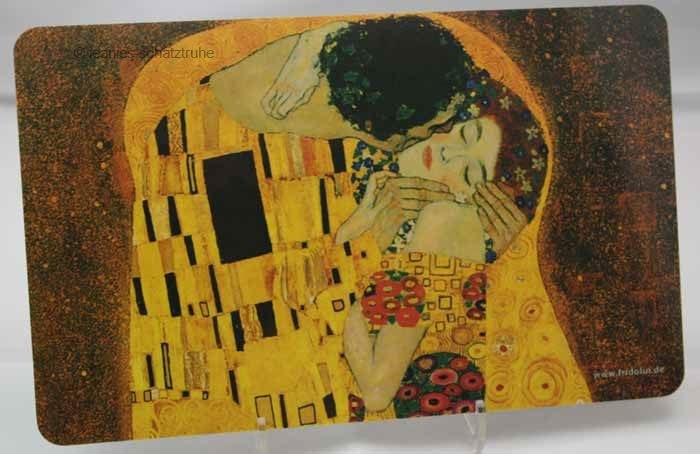 fr hst cksbrettchen schneidebrett brettchen gustav klimt der kuss ebay. Black Bedroom Furniture Sets. Home Design Ideas
