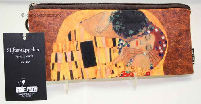 stiftem ppchen schlamperrolle federmappe gustav klimt der kuss ebay. Black Bedroom Furniture Sets. Home Design Ideas