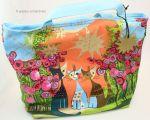 Shopper bag Shopping bag beach bag 38 cm Rosnia MONITORED MASTER Cats CAT