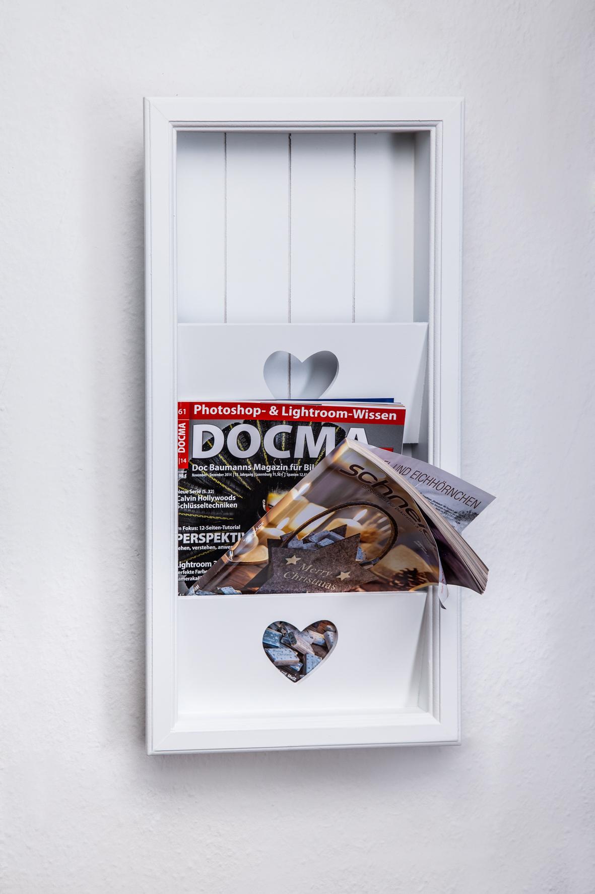 zeitungsständer wand weiss holz magazinständer magazinhalter, Moderne