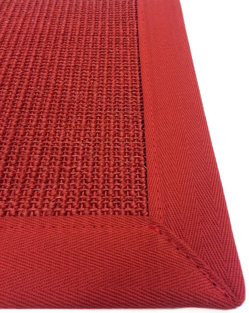 sisal teppich bord renteppich natur faser rot 11 11 250cm rund. Black Bedroom Furniture Sets. Home Design Ideas
