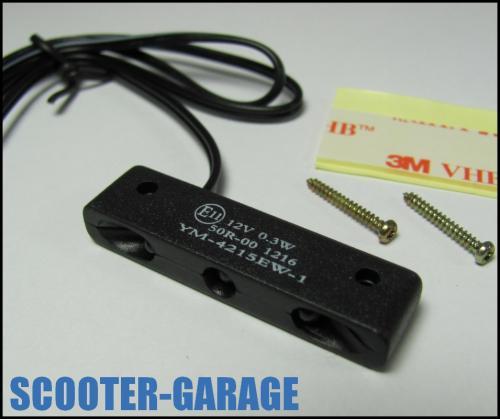 NUMMERNSCHILDBELEUCHTUNG-MINI-MIT-ABE-3x-LED-WEISS-ROLLER-MOTORRAD-QUAD-NEU