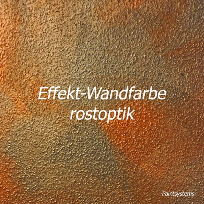 Effekt-Wandfarbe Rostoptik 2x 2L + Effektbürste