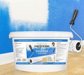 seidenlatex seidengl nzend wei dispersionsfarbe innen au en 10 liter. Black Bedroom Furniture Sets. Home Design Ideas
