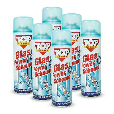 glas power schaum reiniger 500ml 6 stk top cleaner glasreiniger ebay. Black Bedroom Furniture Sets. Home Design Ideas
