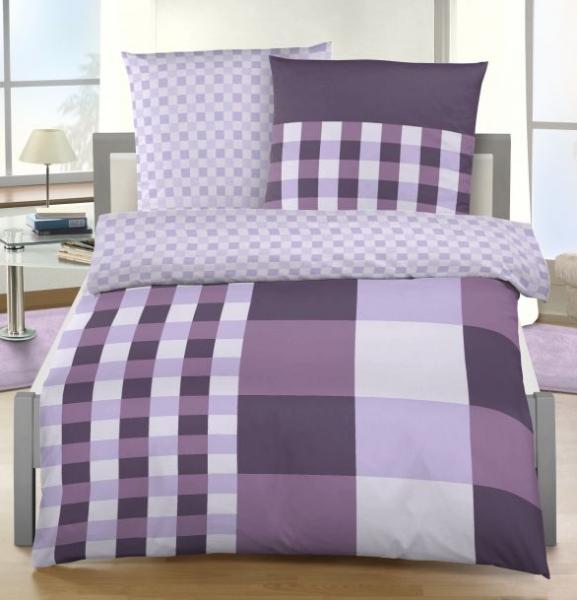 aktionspreis ido bettw sche karo design 135x200 80x80 cm lila flieder rose ebay. Black Bedroom Furniture Sets. Home Design Ideas