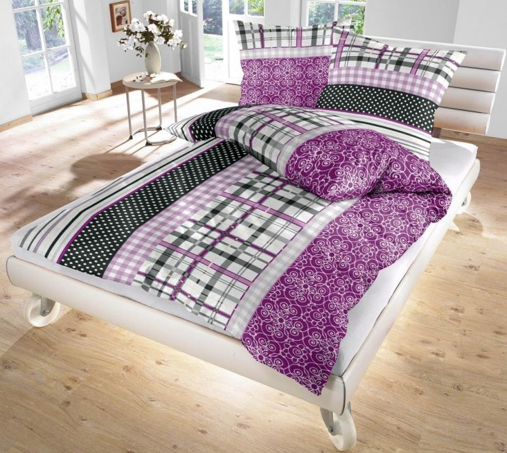 ido fein biber bettw sche brombeere grau schwarz 135x200 80x80 cm ebay. Black Bedroom Furniture Sets. Home Design Ideas