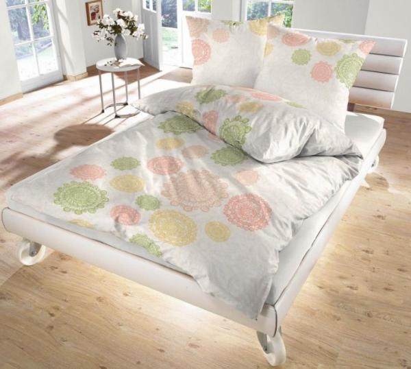 ido fein biber bettw sche natur ornamente rund 135x200 80x80 cm ebay. Black Bedroom Furniture Sets. Home Design Ideas