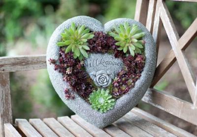 Grosses Herz Zum Bepflanzen Willkommen Gartendeko