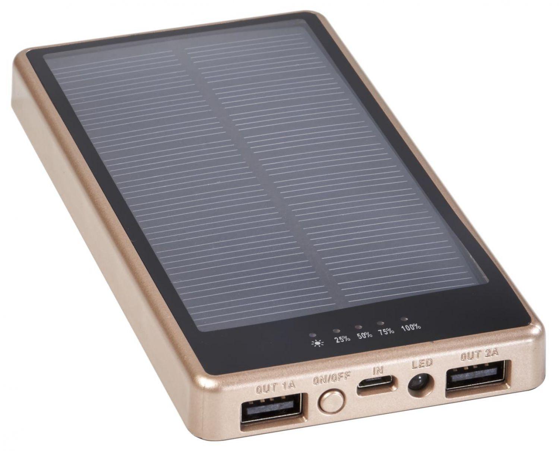 Solar-Ladegerät 7000mAh Solar Akku Powerbank Mit LED