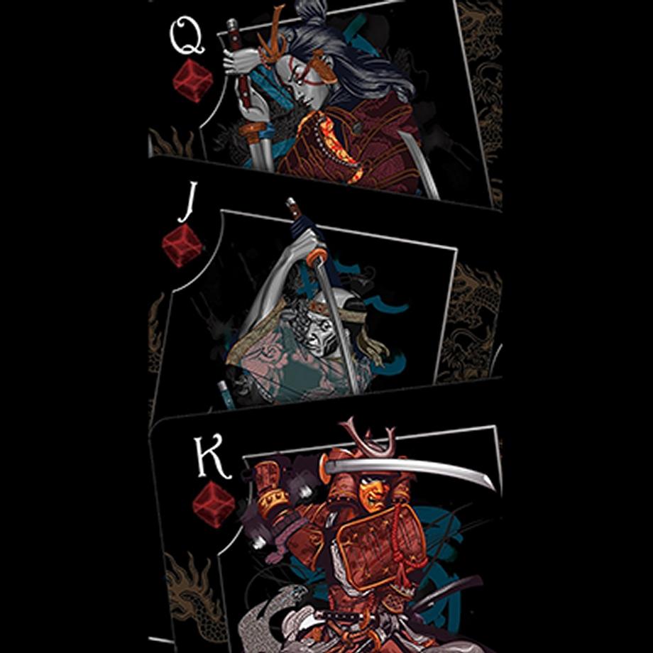 Bicycle Feudal Samurai Deck By Crooked Kings Poker Spielkarten