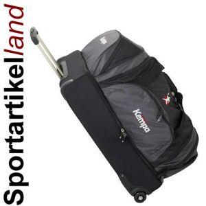 kempa handball sporttasche mit rollen trolley schwarz ebay. Black Bedroom Furniture Sets. Home Design Ideas