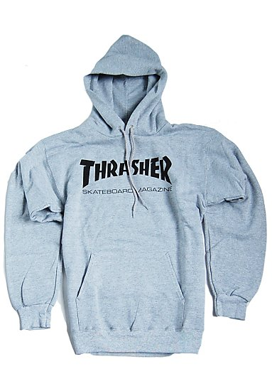 thrasher skate mag pullover grey gr s xl grau ebay. Black Bedroom Furniture Sets. Home Design Ideas
