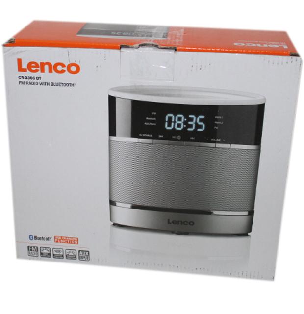 lenco cr 3306 bt weckerradio mit lautsprecher led display ukw radio bluetooth. Black Bedroom Furniture Sets. Home Design Ideas