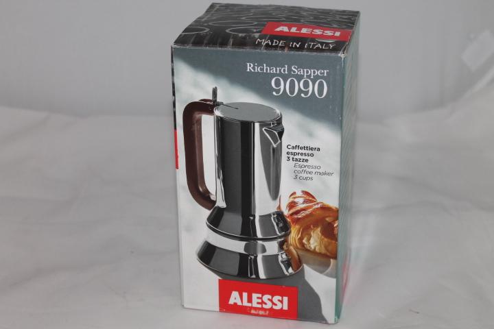 alessi espressomaschine 3 tassen f r induktion edelstahl 9641 ebay. Black Bedroom Furniture Sets. Home Design Ideas