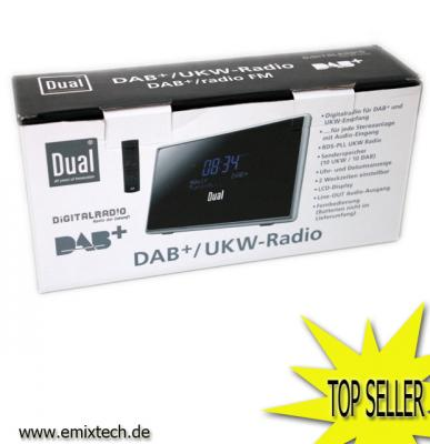 dual dab 1a digitalradio dab dab ukw adapter schwarz ebay. Black Bedroom Furniture Sets. Home Design Ideas