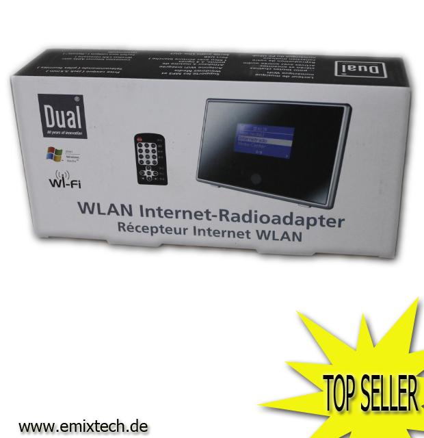 dual ir 1a internetradio adapter wifi upnp wetteranzeige uhr alarmfunktion ebay. Black Bedroom Furniture Sets. Home Design Ideas