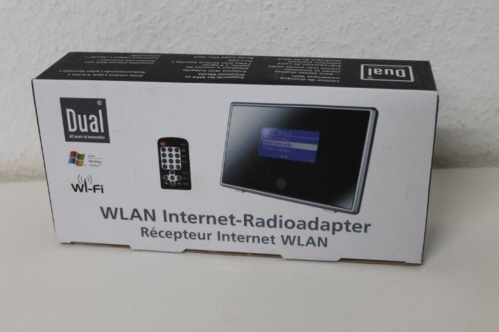 dual ir 1a internetradio adapter wifi upnp wetteranzeige uhr alarmfunktion. Black Bedroom Furniture Sets. Home Design Ideas
