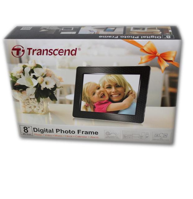 transcend digitaler bilderrahmen 20 3 cm 8 zoll display 2gb interner speiche ebay. Black Bedroom Furniture Sets. Home Design Ideas