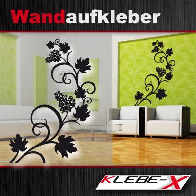 weintrauben ranken aufkleber tattoo f r die wand. Black Bedroom Furniture Sets. Home Design Ideas