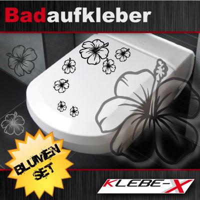 blumen set f r wc deckel bad tattoo bl ten aufkleber 47 motive zur wahl ebay. Black Bedroom Furniture Sets. Home Design Ideas