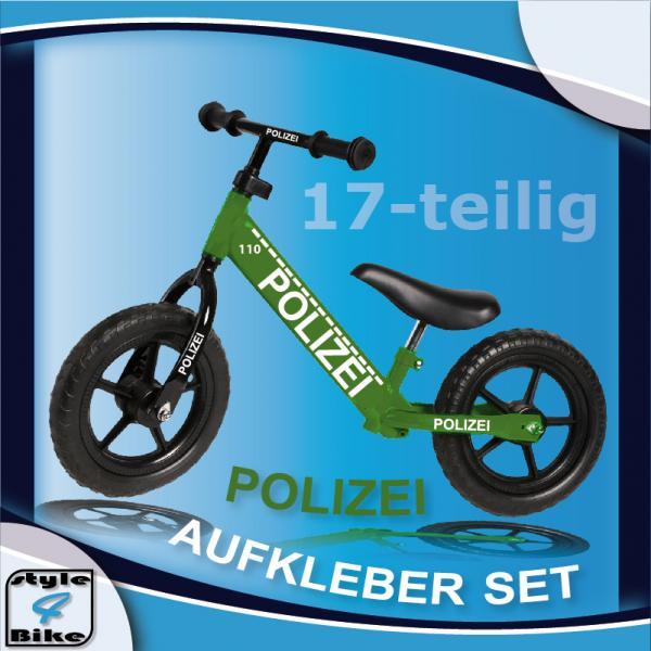 Fahrradaufkleber-Kinderrad-Polizei-Dekor-Sticker-Kids