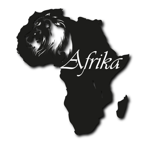 wandtattoo xxl afrika kontinent aufkleber l we savanne ebay. Black Bedroom Furniture Sets. Home Design Ideas
