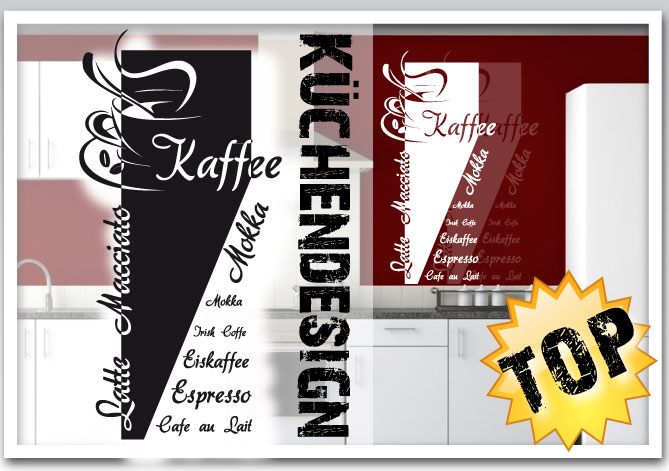 xxl k chen wandtattoo motiv kaffeetasse schriftz ge cafe au lait espresso ebay. Black Bedroom Furniture Sets. Home Design Ideas