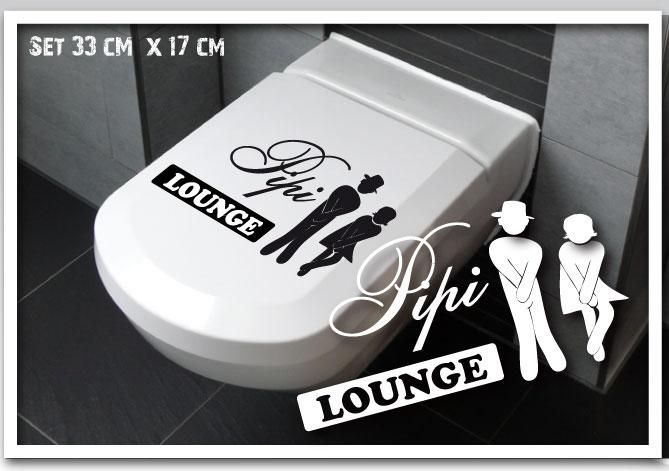 wc deckel aufkleber pipi lounge bad aufkleber toilette. Black Bedroom Furniture Sets. Home Design Ideas