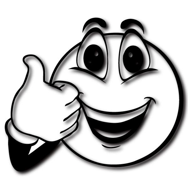 Thump up Smiley frs NotebookLaptop Aufkleber Design Motiv