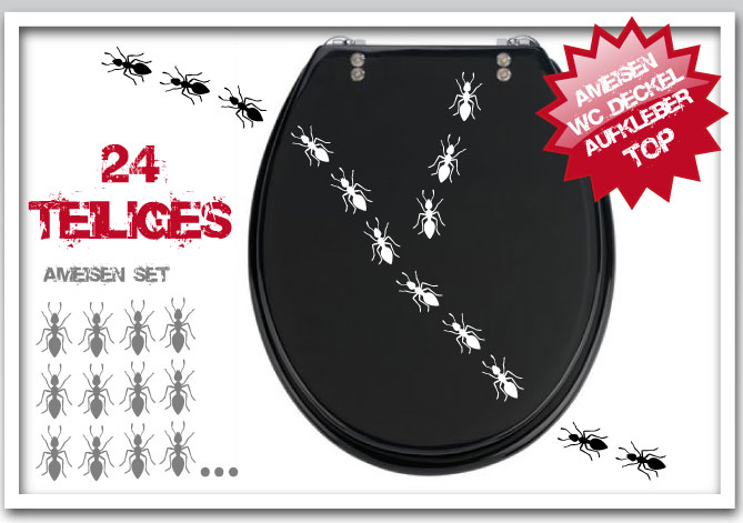 ameisen 24 teiliges set mit ameisen bad aufkleber wandtattoo motiv tiere ebay. Black Bedroom Furniture Sets. Home Design Ideas