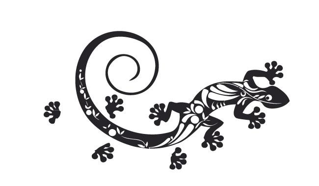 gecko eidechse autoaufkleber tribal tuning aufkleber auto size s top. Black Bedroom Furniture Sets. Home Design Ideas