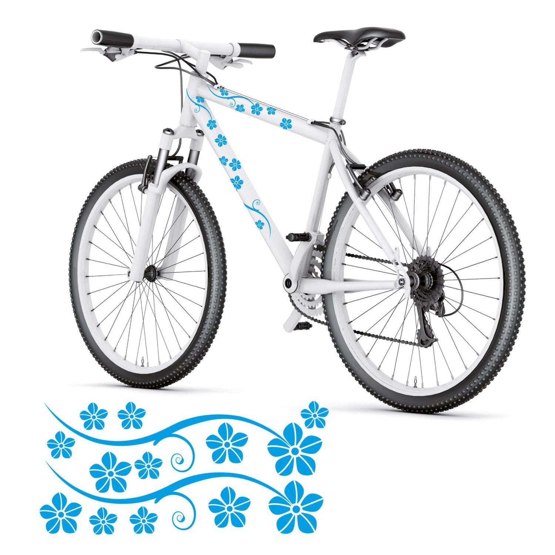 blumen bl ten fahrradaufkleber fahrrad aufkleber sticker hibiskus style4bike ebay. Black Bedroom Furniture Sets. Home Design Ideas