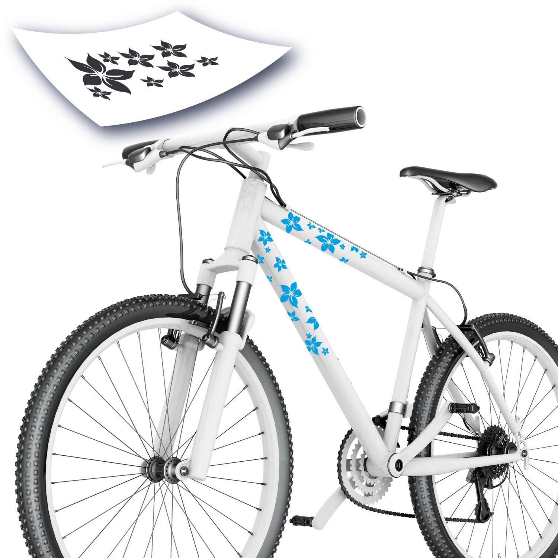 blumen aufkleber kinderaufkleber bunte blumen floar fahrrad sticker ebay. Black Bedroom Furniture Sets. Home Design Ideas