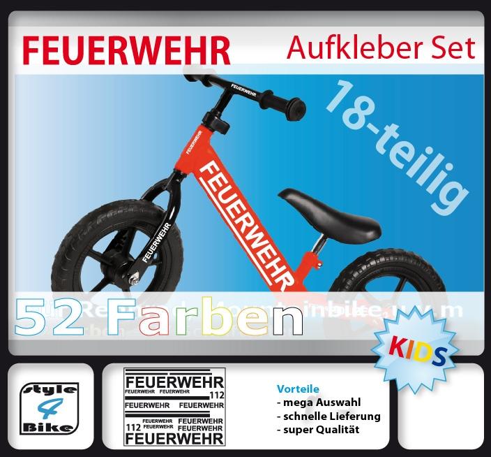 fahrrad aufkleber feuerwehr bike sticker von style4bike ebay. Black Bedroom Furniture Sets. Home Design Ideas