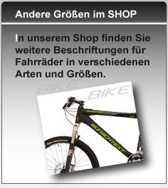 Fahrrad Rahmen Beschriftung Unterrohr Wunschtext *TOP* Aufkleber