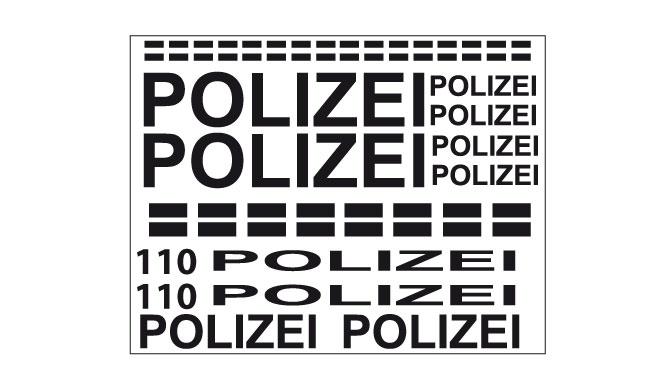 polizei aufkleber set fahrrad sticker dekor f r