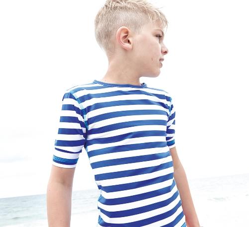 beach heroes uv t shirt kinder sonnenschutz beachwear blau weiss 1 2 jahre ebay. Black Bedroom Furniture Sets. Home Design Ideas