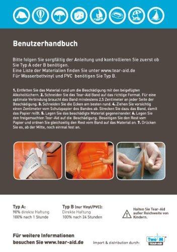 Partyzelt Flicken : Tear aid reparaturset typ b flicken für vinyl und pvc