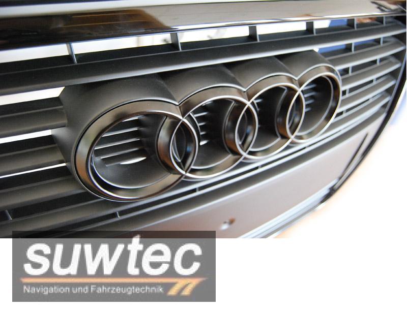 Details zu Audi Emblem Grill Ringe schwarz matt A1 A3 S3 S-Line