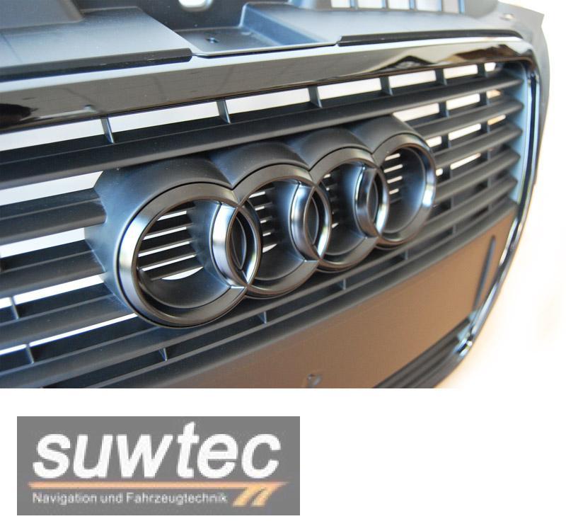 Audi Emblem Grill Ringe schwarz matt A1 A3 S3 ab 2008 Facelift ...