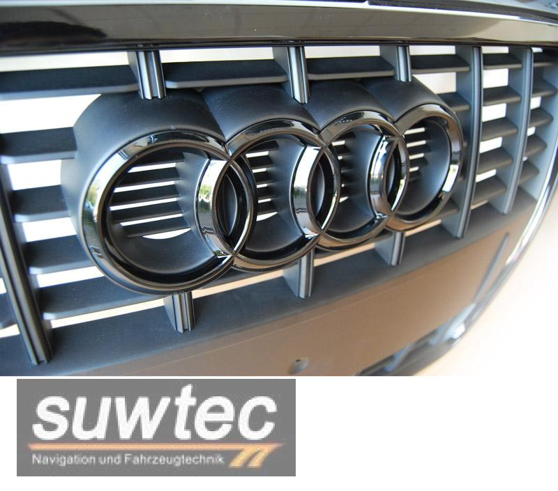 audi emblem grill ringe schwarz gl nzend a1 a3 s3 s lin ebay. Black Bedroom Furniture Sets. Home Design Ideas