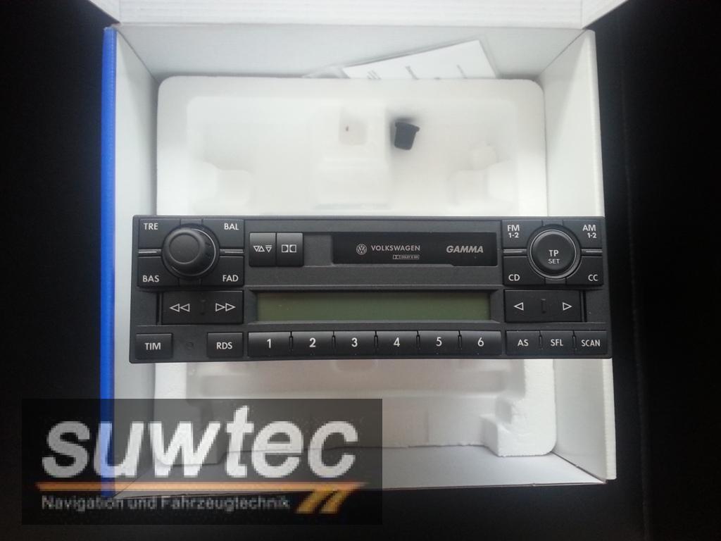 vw stereo cassetten radio gamma v 5 40 ovp golf polo. Black Bedroom Furniture Sets. Home Design Ideas