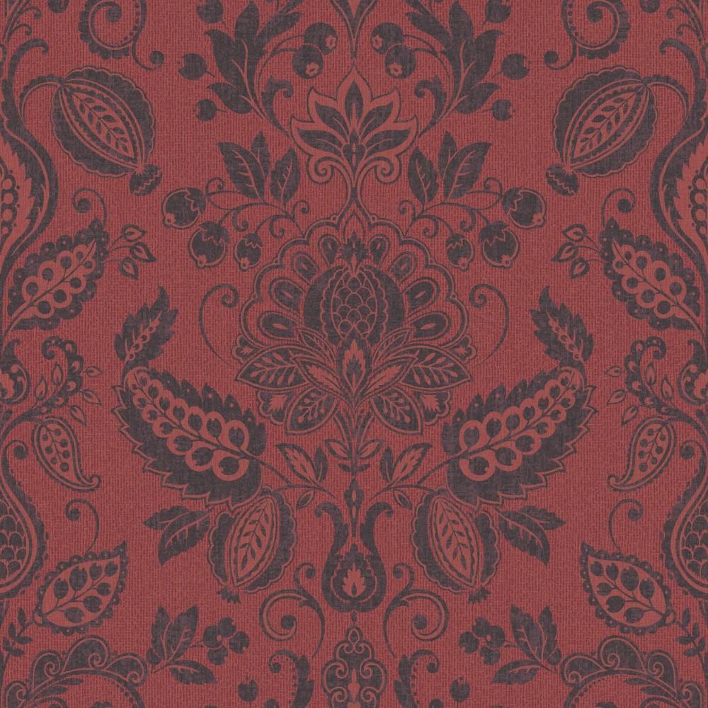 grandeco tapete trendy classics tc 56108 papier neu barock ornamente rot schwarz ebay. Black Bedroom Furniture Sets. Home Design Ideas
