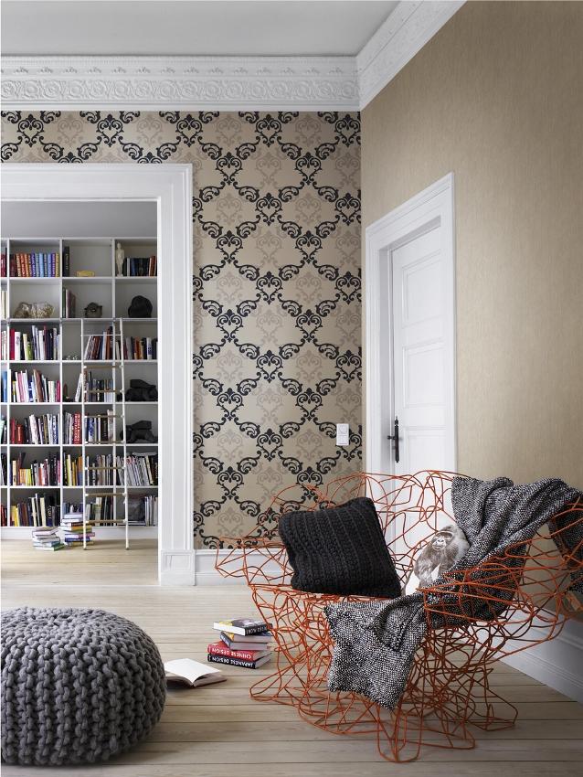 rasch vanity fair 785524 tapete barock ornamente retro schwarz grau vlies neu ebay. Black Bedroom Furniture Sets. Home Design Ideas