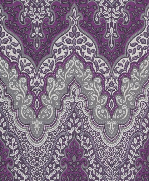 Glamour 404746 rasch tapeten vlies neu glitzer ornamente for Muster tapete lila grau